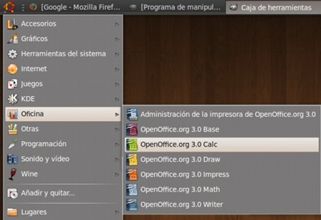 OpenOffice 3.0 en Ubuntu Intrepid Ibex