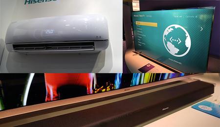 Hisense va por todo en el mundo de la tecnología: su primer barra de sonido y un televisor Roku 4K