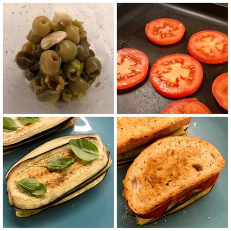 paso a paso sándwich de verduras a la parilla