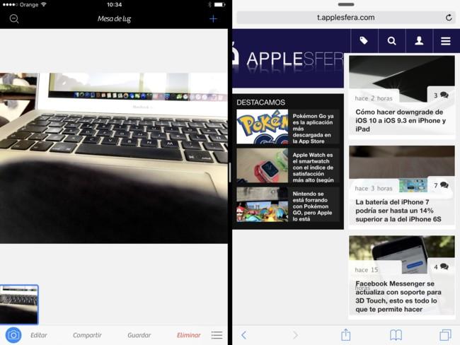 Camera + alcanza la versión 2 soportando la multitarea, el Pencil y una batería de mejoras específicas para el iPad