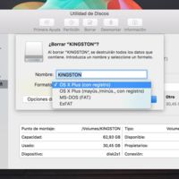 ¿En qué sistema de ficheros formateo el disco? Estos son los que nos ofrece OS X El Capitan
