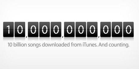 Apple manda un mensaje a las discográficas: 10.000 millones de canciones vendidas