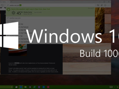 Estas son las novedades de la nueva build 10061 de Windows 10 Technical Preview