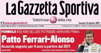 Alonso podría tener un contrato con Ferrari para 2011