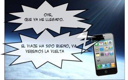 ¿Un iPhone 4 en la estratosfera?
