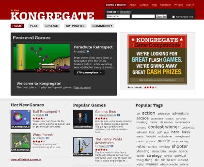 Kongregate, comunidad de juegos on-line