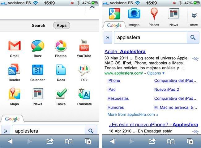 Google buscador iOS