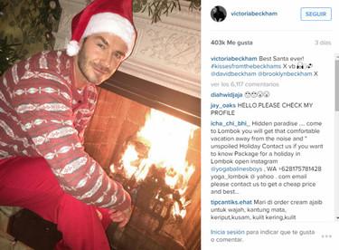 Así han pasado la Nochebuena David Beckham, Miguel Ángel Silvestre y otros famosos