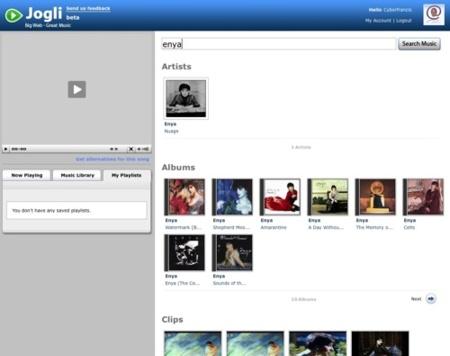 Jogli, potente motor de búsquedas de temas musicales