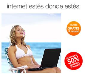 Orange y Vodafone también promocionan internet móvil en verano
