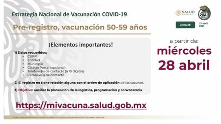 Vacunacion Segunda Etapa Adultos 50 A 59 Anos Mexico 1