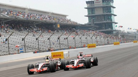 Hamilton Alonso Indianapolis F1 2007