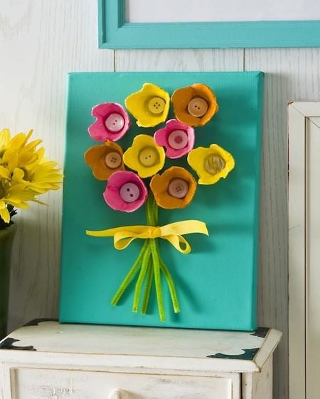 Manualidades Dia Madre Flores Carton Huevo