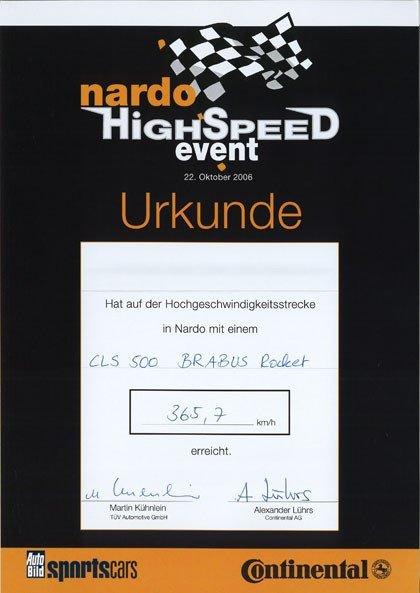 Brabus Rocket V12 Biturbo World Speed Record