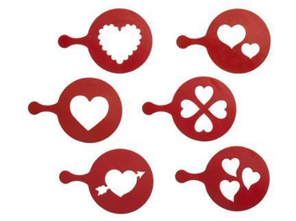 San Valentín: stencil para decorar tartas