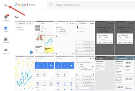 Opciones Google Fotos