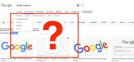 Google Imágenes elimina la opción para buscar un tamaño exacto o una resolución mínima