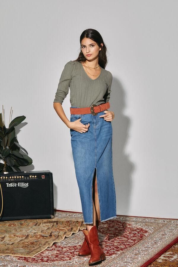 Falda larga long fit