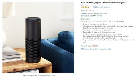 Amazon Echo Alexa Mexico Precio