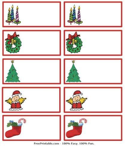 Tarjetas de navidad imprimibles para identificar los regalos - Dibujos de postales de navidad ...