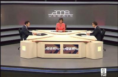 La 1 arrasa con el segundo debate Zapatero-Rajoy