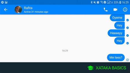 Cómo saber si alguien ha leido un mensaje en Messenger