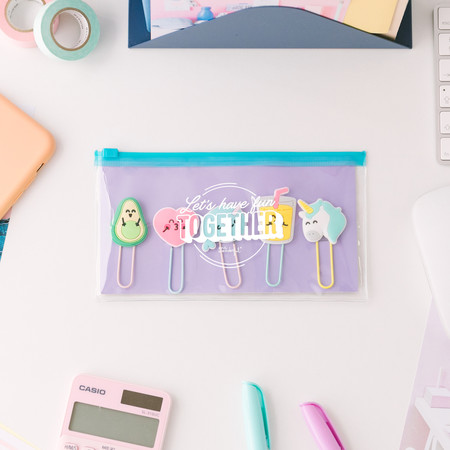 Mrw 8435460777902 Pencil Case With Set Of Character Clips Lets Have Fun Together Multi 1 Editar