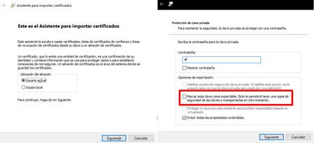 Asistente Importación Certificados