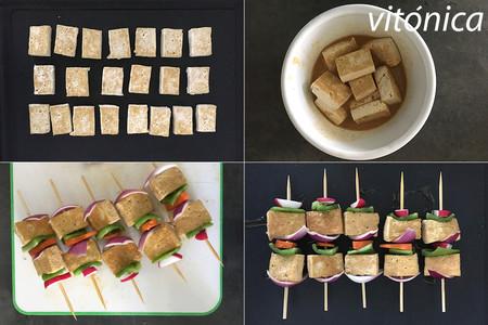 Pinchos Tofu Pasos