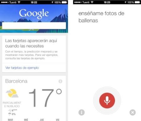 Google actualiza su aplicación de búsquedas en iOS para equiparar las funciones de Google Now con las de Android