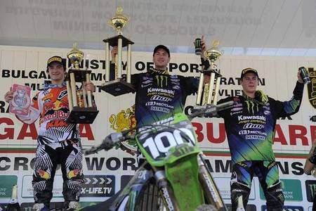 Podium MX1 Bulgaria 2012