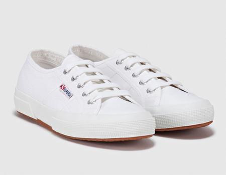 Zapatillas De Lona De Mujer Superga De Algodon Blancas