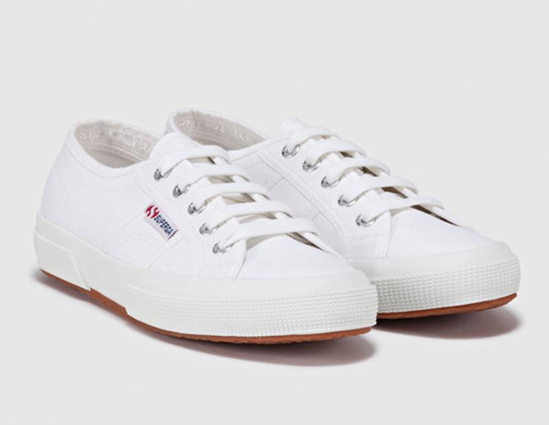 Zapatillas de lona de mujer Superga de algodón blancas