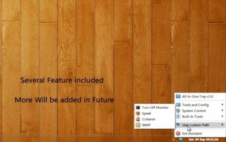 Accede a todas las opciones de Windows 7 con un click gracias a All-in-one Tray