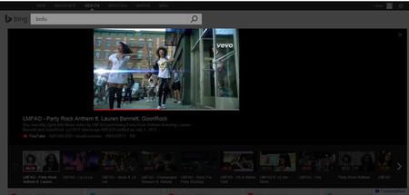 Búsquedas de vídeo en Bing