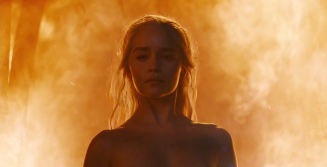 Daenerys Targaryen Fire Game Of Thrones