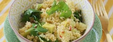 Taboulé de pepino y aguacate, receta refrescante y ligera