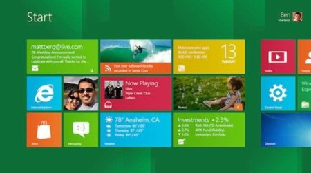 Windows 8 interfaz metro