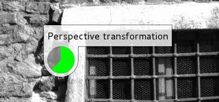 GIMP 2.8, indicador de progreso