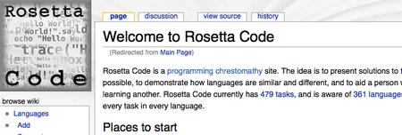 Rosetta Code: un problema, mil lenguajes