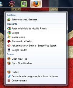 Winfox hace que Firefox aproveche las Jump Lists de Windows 7