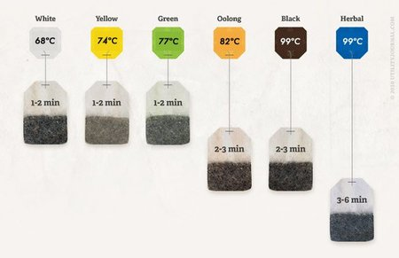 Grafico temperatura del te