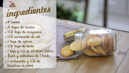 Galletas de limón y All-Bran® Flakes [Videoreceta]