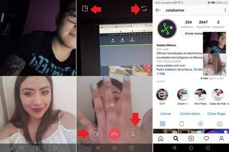 Instagram Videollmadas Interfaz