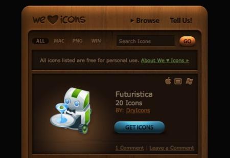 We Love Icons, otro sitio para descargar iconos (y más)