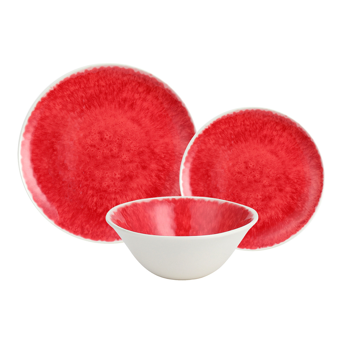 Vajilla de melamina en rojo