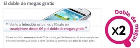 Telecable dobla los megas de la tarifa Conecta 20 para nuevas contrataciones