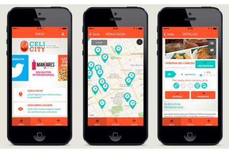 CeliCity, una aplicación que muestra restaurantes y comercios de productos sin gluten