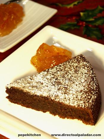 Receta de pastel de chocolate y almendras
