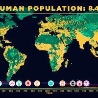El crecimiento de la humanidad de 0 a 7.000 millones, en un asombroso vídeo de cinco minutos